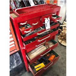BEACH 2 PIECE 16 DRAWER MOBILE TOOL CHEST WITH CONTENTS INC. HARDWARE, SOCKETS, SCREW DRIVERS, AND