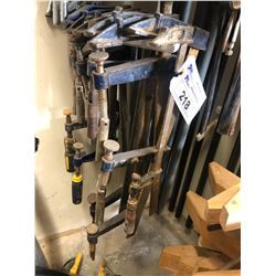 APPROX. 10 BLUE BAR CLAMPS