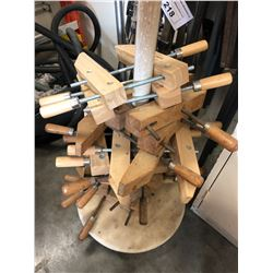 STACK OF WOOD HAND CLAMPS