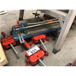 4 BESSEY CORNER CLAMPS, TILE CUTTER, AND ROUTER PANTOGRAPH BASE