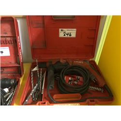 HILTI TE 2 HAMMER DRILL WITH BITS AND CASE