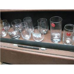ASSORTED SIZES GLASS CUPS