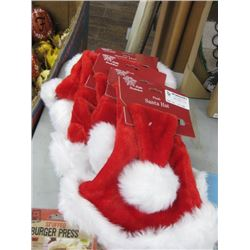 5PC PLUSH SANTA HAT