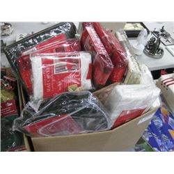 BOX OF ASSORTED CHRISTMAS CHAIR COVERS