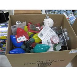 BOX OF ASSORTED CHRISTMAS DECORATION