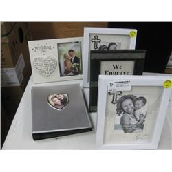 5 PC ASSORTED FRAMES AND ALBUMS