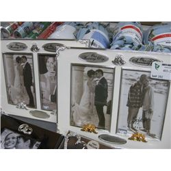ASSORTED WEDDING PICTURE FRAMES