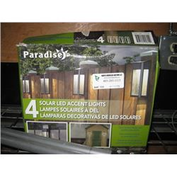 PARADISE 4 SOLAR LED ACCENT LIGHTS
