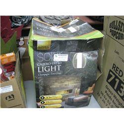 SOLAR GAZEBO PATIO LIGHT CHAMPAGNE TINT GLASS