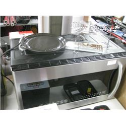 SAMSUNG MICROWAVE WITH DISHES