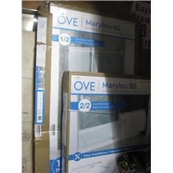 OVE MARYLOUD 60 SHOWER DOOR AND BASE HALF OUT OF BOX