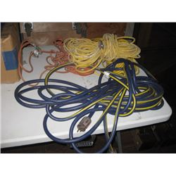 ASSORTED EXTENSTION CORDS