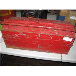 RED TOOL BOX WITH TOOLS