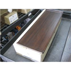 4PC ZCAWWRT51 WOODEN RECTANGLE BUFFET TRAY 22.8 X 7.11
