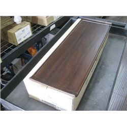 4PC ZCAWWRT51 WOODEN RECTANGLE BUFFET TRAY 22.8 X 7.12