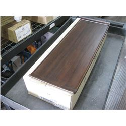 4PC ZCAWWRT51 WOODEN RECTANGLE BUFFET TRAY 22.8 X 7.13