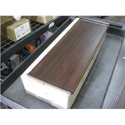 4PC ZCAWWRT51 WOODEN RECTANGLE BUFFET TRAY 22.8 X 7.15
