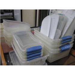 STACKS OF PLASTIC CONTAINERS