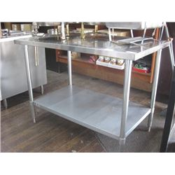4FT STAINLESS TABLE WITH EDLUND CAN OPENER