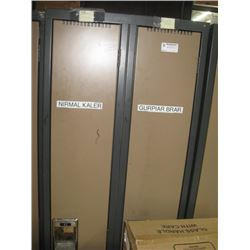 DOUBLE BANK OF FULL DOOR LOCKERS