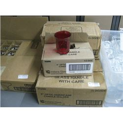 4 BOXES GLASS TABLE TOP CANDLES