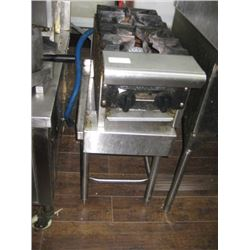 AMERICAN RANGE TWO BURNER ON STAINLESS STAND