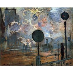 Claude Monet - Outside the Station Saint-Lazare, The Signal