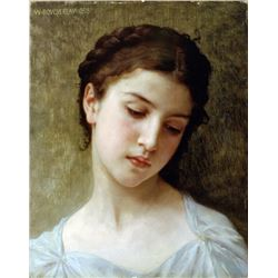 William Bouguereau - Head of a Young Girl 1898