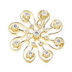 1.20 ctw Diamond Pendant-Pin - 14KT Yellow Gold