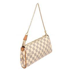 Louis Vuitton Damier Azur Canvas Leather Eva Pochette Bag
