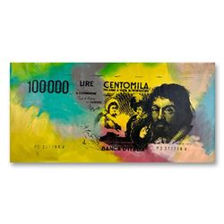 100000 Lire Centomila by Steve Kaufman (1960-2010)