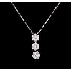 0.80 ctw Diamond Pendant - 14KT White Gold