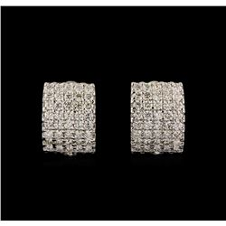 14KT White Gold 2.34 ctw Diamond Earrings