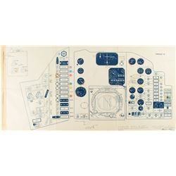 Mercury Capsule 18 Draft Schematic Attested to by Farthest Reaches as Scott Carpenter Owned