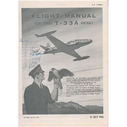 Scott Carpenter's T-33A Flight Manual with Mercury Astronauts Initials