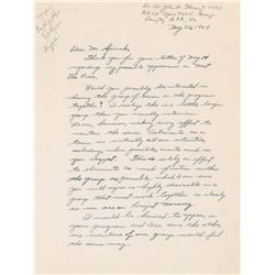 John Glenn Autograph Letter Signed