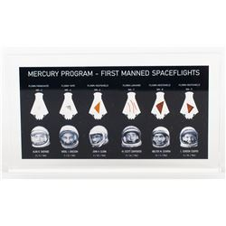 Mercury Program Flown Artifact Display [Attested to as Flown by Florian Noller]