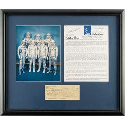 Mercury Seven Signed Display