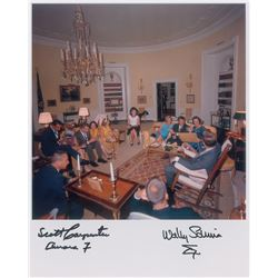 Scott Carpenter and Wally Schirra Signed Photograph