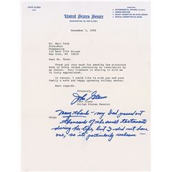 John Glenn Typed Letter Signed and Signed Photograph