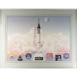 Mercury Astronauts Signed Print