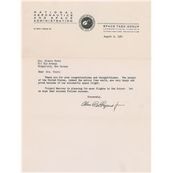 Alan Shepard Typed Letter Signed