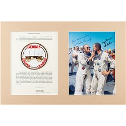 Gordon Cooper's Gemini 5 Flown Patch with Signed Photograph