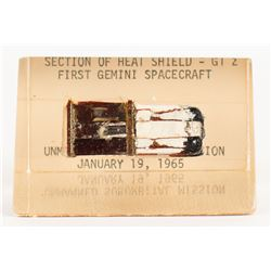 Gemini 2 Flown Heat Shield Fragment