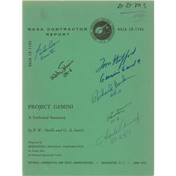 Gemini Astronauts Signed Contractor Report
