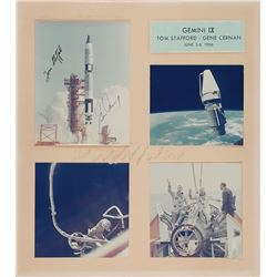 Gemini 9 Signed Photograph Display
