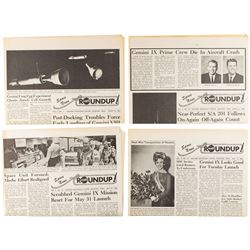 NASA Roundup Group of (4) Newspapers
