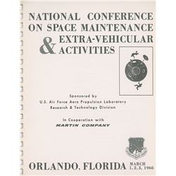 National Conference on Space Maintenance & Extra-Vehicular Activities Report