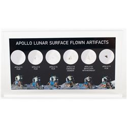 Apollo Lunar Surface Flown Artifact Display [Attested to as Flown by Florian Noller]