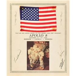 Apollo 8 Flown Flag